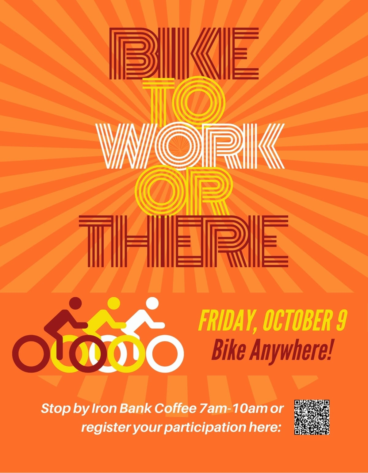 """Poster for """"Bike to Work or There."""""""