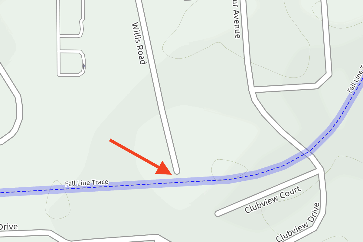 A map showing the the location of the trail.