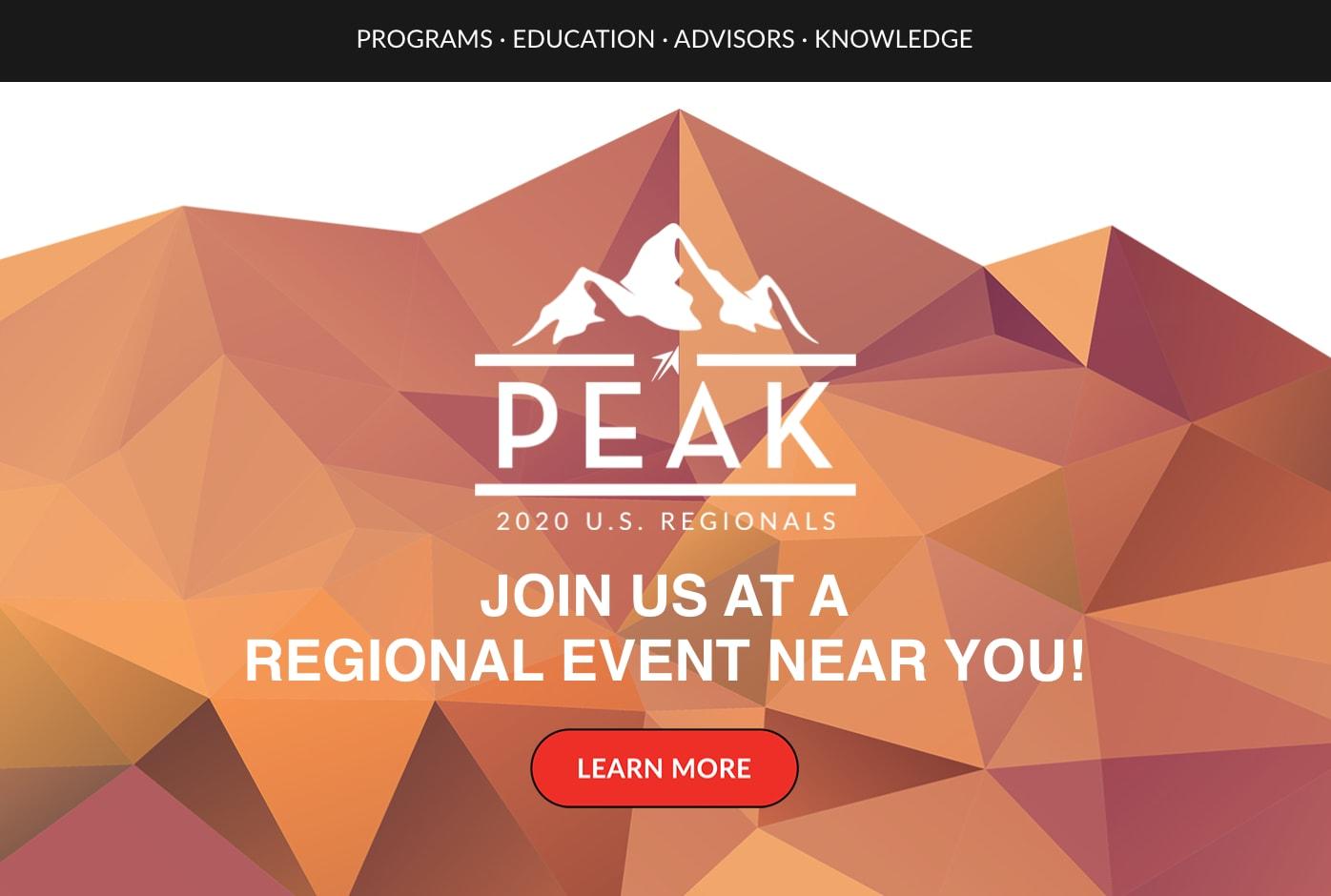 Peak Regionals 2020 Email