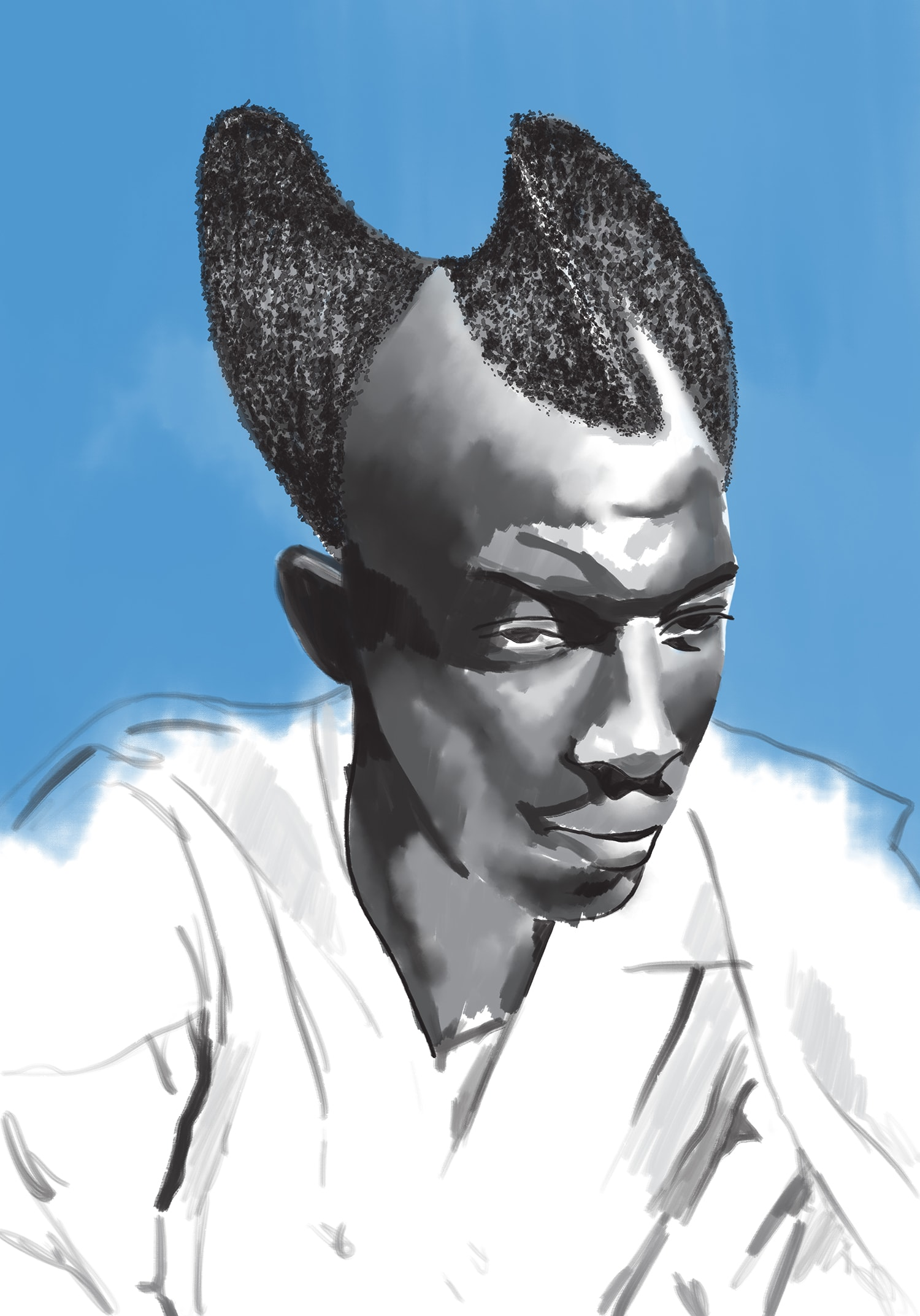Rwandan Amasunzu Hairstyle