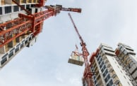Cranes at work on a Bouygues project