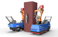 """The """"Robo-Welder"""", developed to weld steel columns by Japanese contractor, Shimizu Corporation"""