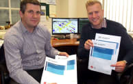 Jon Hall (left) and Jon Danckert from Angus Fire with their certificates