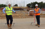 Bewley Homes' Andrew Brooks and UK Connect's PJ Farr