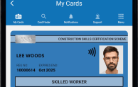 A screengrab of the My CSCS app