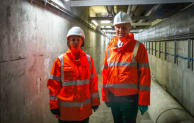 Minister for implementation, Oliver Dowden, with Heidi Mottram CBE, CEO of Northumbrian Water