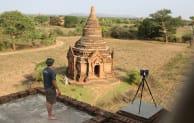 Recording ancient temples in Bagan, Myanmar