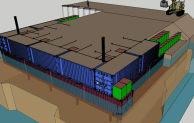 Sketchup design model of Malakal Nile pier