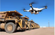 Drone on: the flying robots will feed real-time information to site operatives (Skycatch)