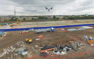 Drones have been used to undertake surveys on Crossrail sites