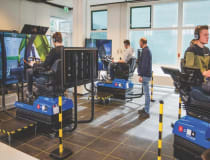 Tenstar training simulators in the Netherlands; the technology will be used at Birmingham's Operator Skills Hub