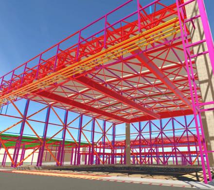 Design elements of a hangar as seen in Robert Bird Group's new platform