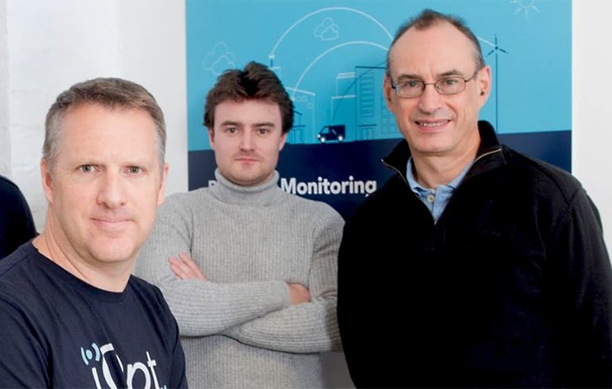 Dane Ralston, managing director; Jack Slater, head of technology; Stewart Carruth, director of operations