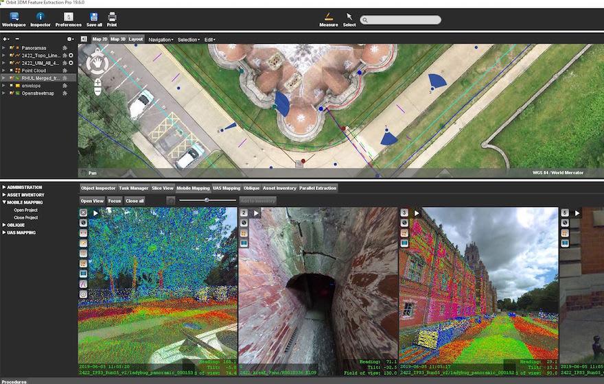 Image: a screen grab of RHUL's assets in Orbit 3DM.