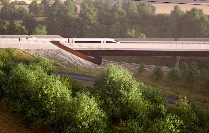 Image: artist's impression of the Small Dean Viaduct (courtesy of HS2 Ltd)