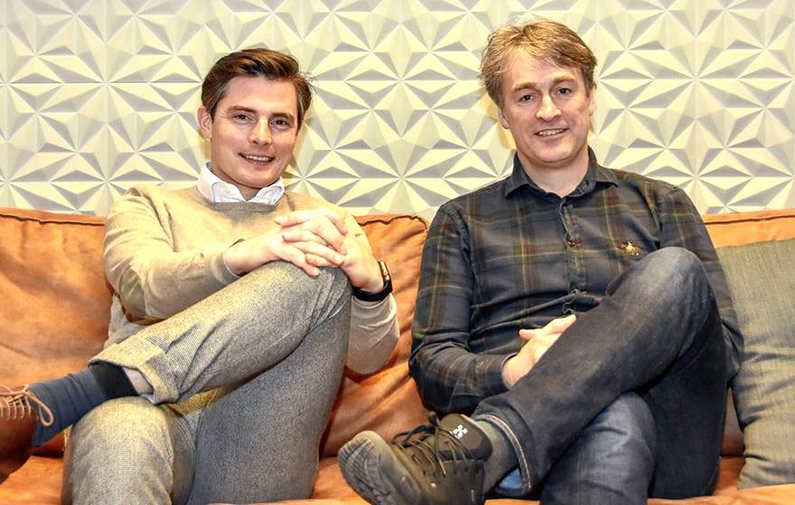 Thomas Goubau (left) and Klaus Nyengaard