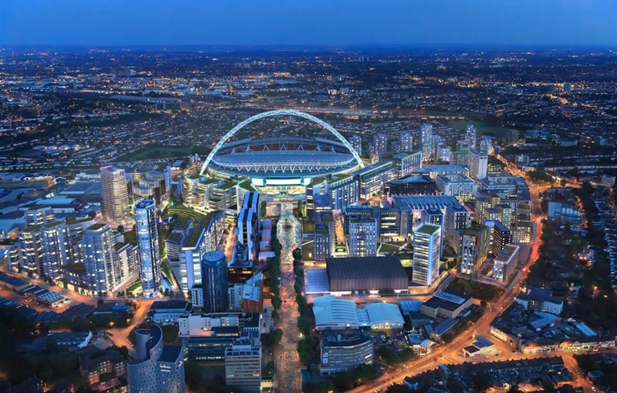 Image: Sisk is working on its latest project at Wembley Park (Wembleypark.com)