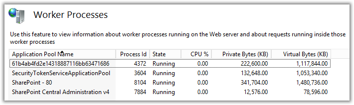 Internet Information Services Worker Process PowerShell Object