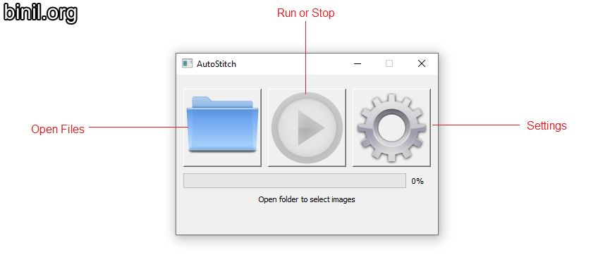 AutoStitch GUI