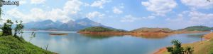View of Banasura Sagar Dam catchment area