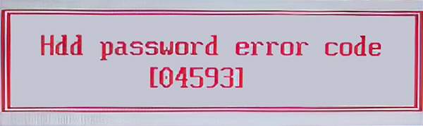 Acer HDD Error Code