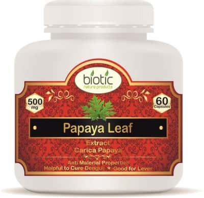 Papaya Extract Capsules - Herbal capsules for dengue malaria antimalarial
