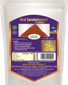 Red Sandalwood Powder - Herbal powder for sun tan and for face pigmentation mask and for clear acne pimples