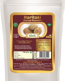 Haritaki Powder/ Hirada Powder - Herbal Powder for rejuvenation and for astringent and anthelmintic