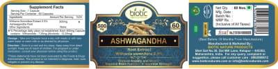 Ashwagandha Extract Capsules - Herbal capsules for boost memory