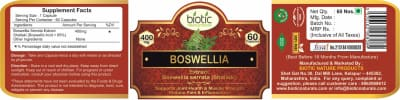 Boswellia Extract Capsule - Herbal Capsules for kidney health