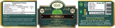 Moringa Extract Capsules - Herbal Capsules for boost hemoglobin