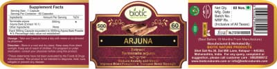 Terminalia Arjuna - Herbal Capsules for cardiac health and for healing fractured bones