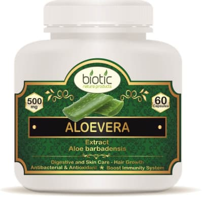 Aloevera Extract Capsules - Herbal Capsules for antibacterial antioxidants