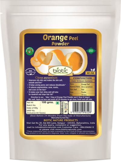 Orange peel powder - Herbal powder for natural hair conditioner and for scalp problems dandruff and for skin care face scrub