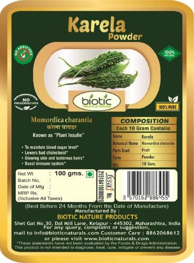 Momordica charantia Powder - Ayurvedic Powder for herat health and for boost immune system