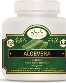 Aloevera Extract Capsules - Herbal Capsules for antibacterial antioxidants