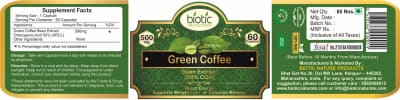 Green Coffee Extract Capsules - Herbal Capsules for powerful antioxidants and for heart health