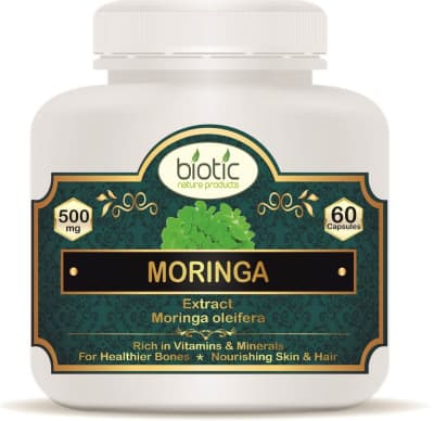 Moringa Extract Capsules - Herbal Capsules for Proteins and for Vitamins A B2 B6 C