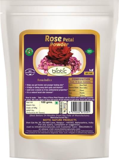 Rose Petal Powder - Rose petals powder uses and Rose petals powder benefits for skin and Rose petals powder for hair