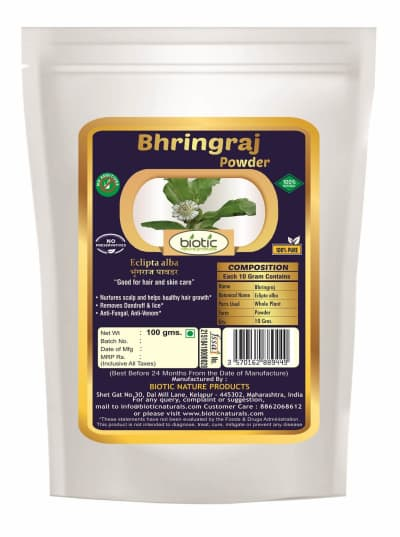 Bhringraj Powder - Ayurvedic Powder for Tridosha and Herbal Powder for hair growth and for baldness hair fall