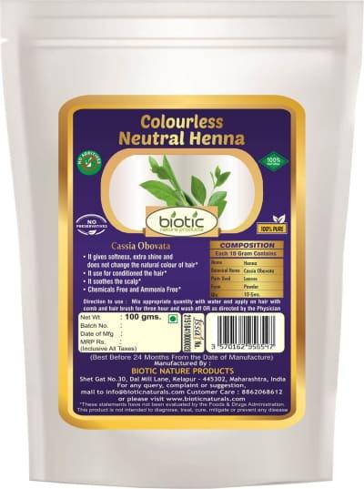 Colourless Heena Powder