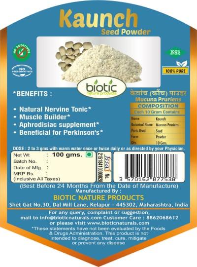 kaunch seed powder Ayurvedic Powder for body builders