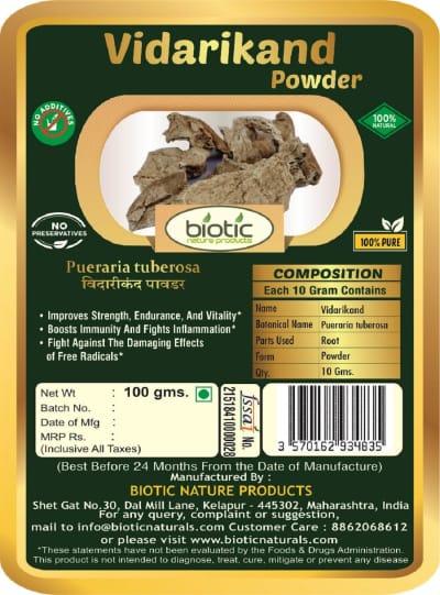 Pueraria tuberosa Powder - Ayurvedic powder for increasing breast milk and for uterous health and UTI