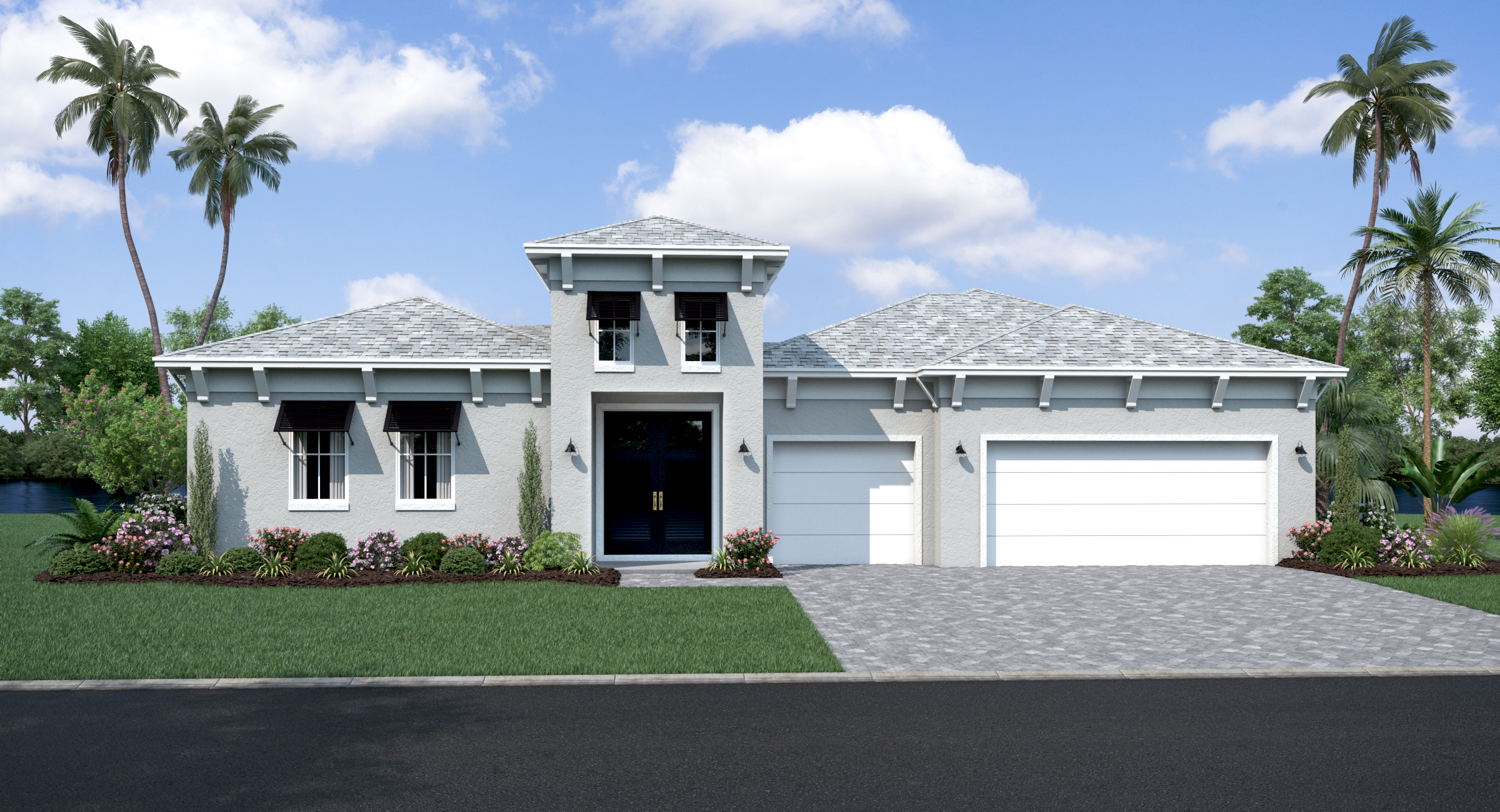 Courtyard home model rendering at Epperson in Wesley Chapel