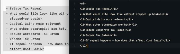 iA Writer - Copy as HTML result