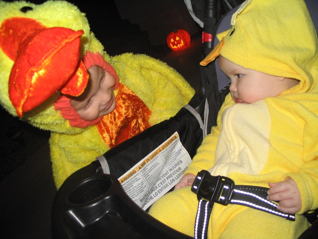Trick or Treating w/ Joey and Abby 1