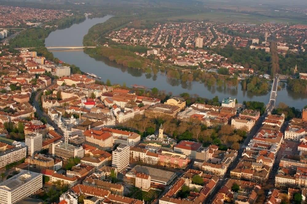 Tisza river at Szeged.