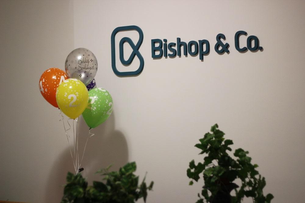 Bishop & Co. anniversary.