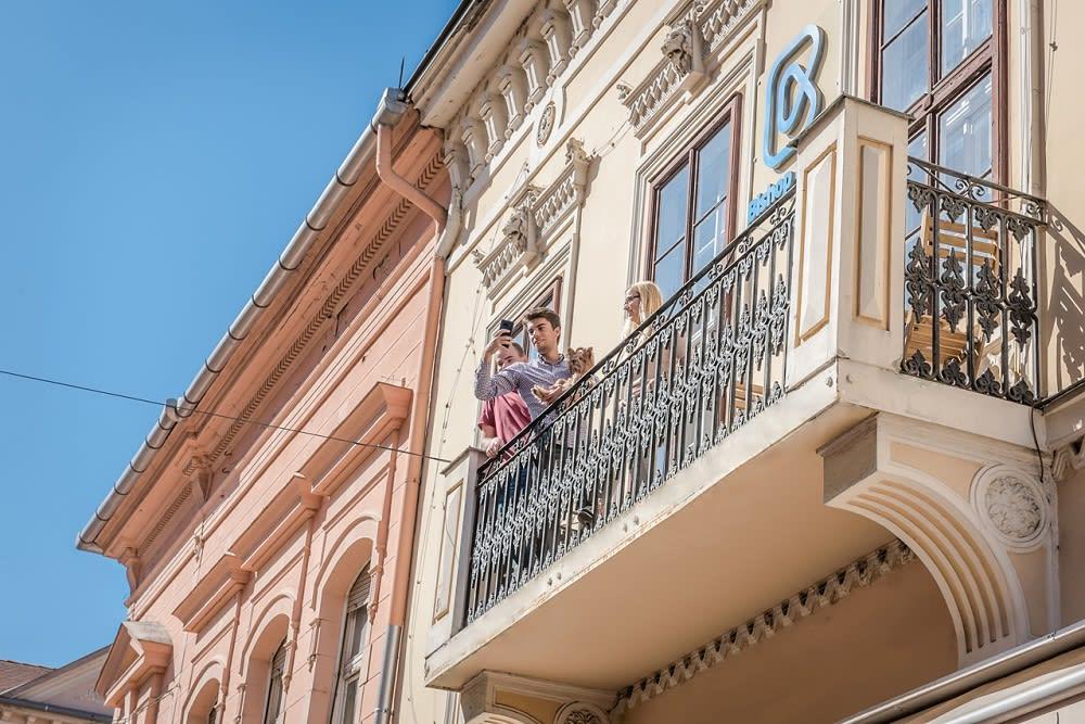 Bishop & Co. balcony.