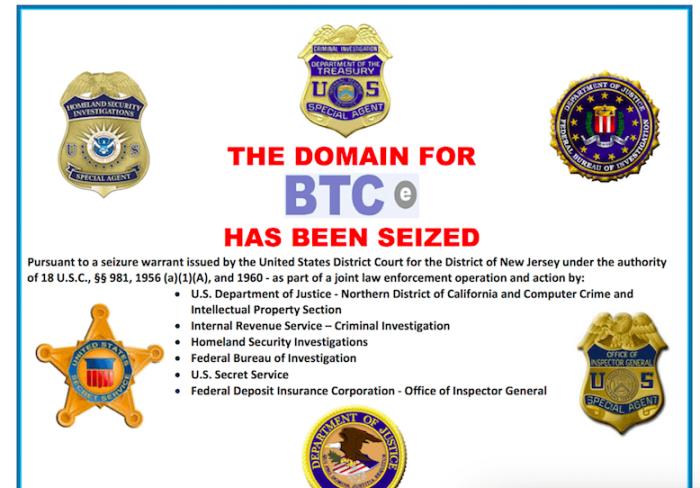 Власти США конфисковали домен BTC-e
